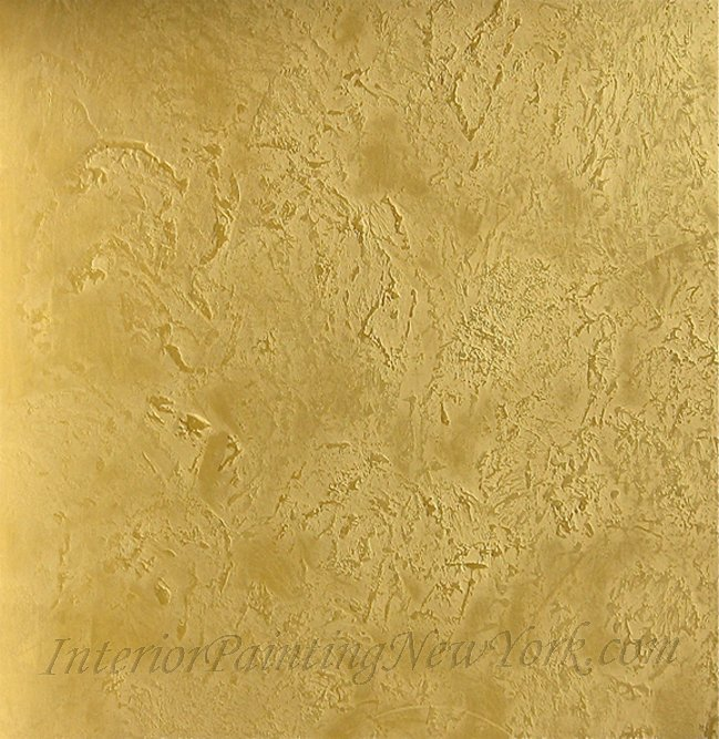 Venetian Plaster Gold Effects NY